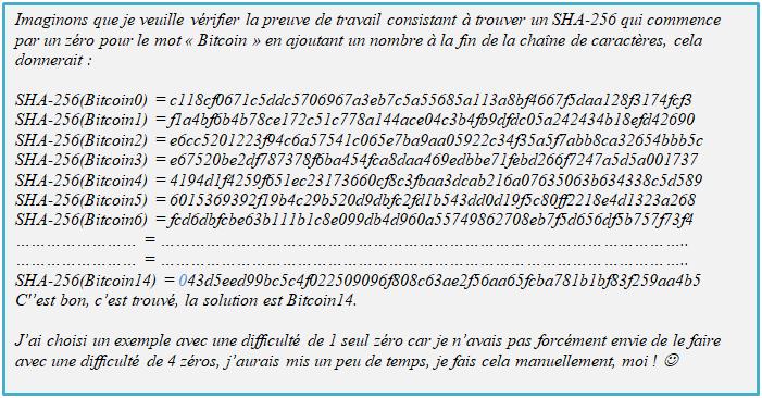 La preuve de travail : Minage de crypto-monnaies