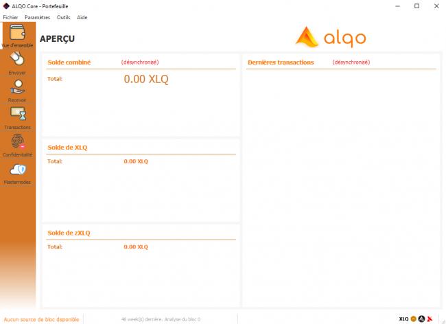 Configurer un masternode : Wallet Alqo