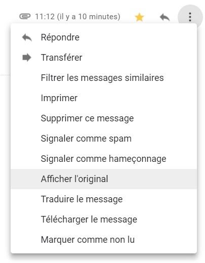 Chantage par mail - Gmail