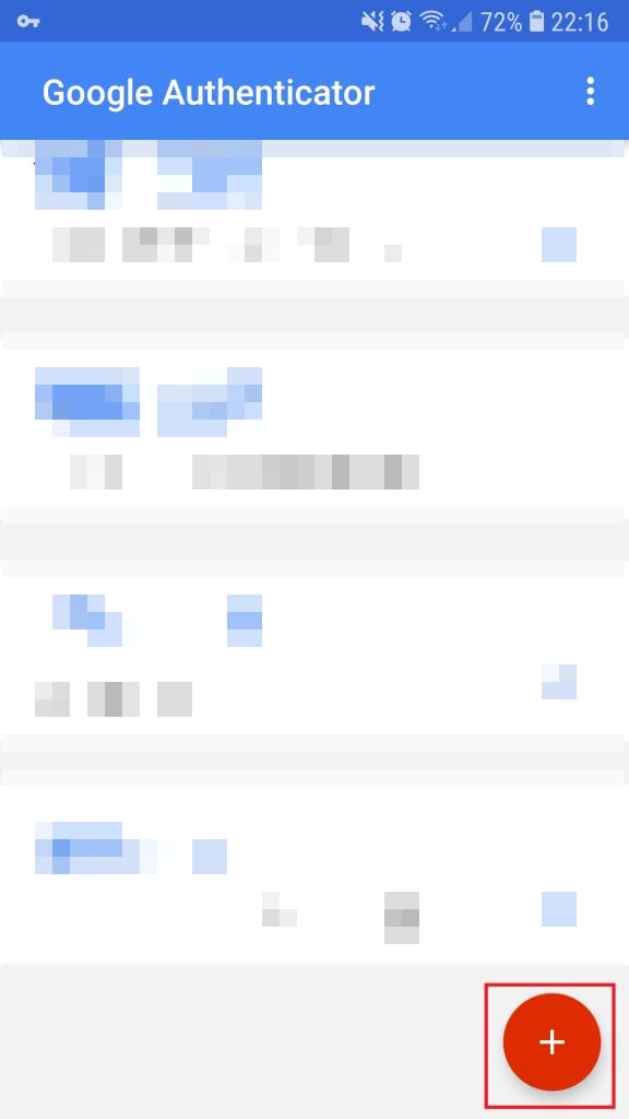 Google Authenticator - Ajouter un compte