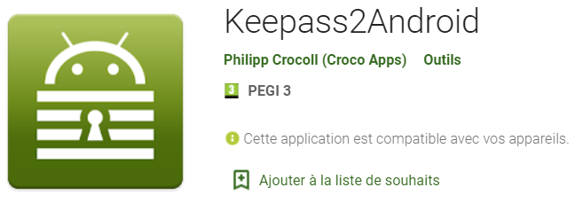 Google Play - Keepass2android