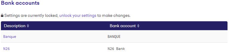 Kraken - Bank accounts