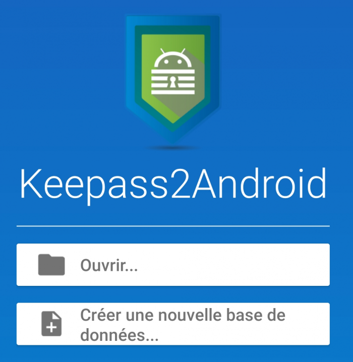 Page d'accueil - Keepass2android
