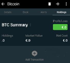 Blockfolio - Ajout de transactions