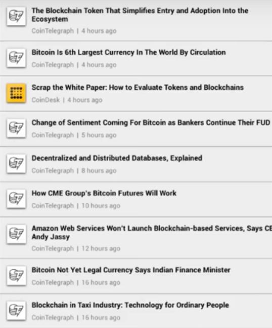 Blockfolio - News