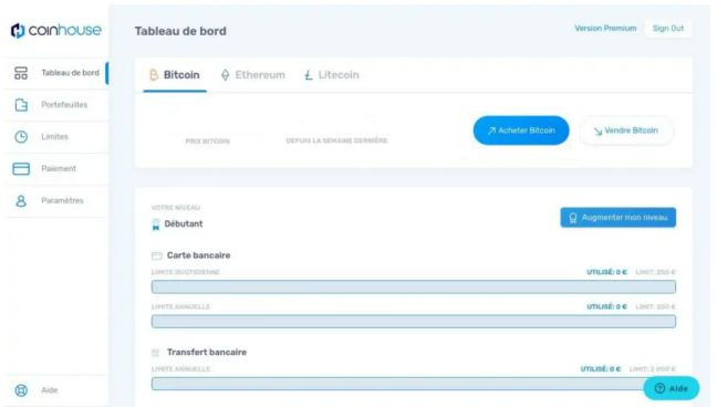 Coinhouse - Acheter des bitcoins